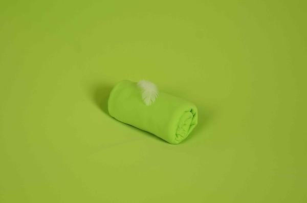Tissu en tricot vert