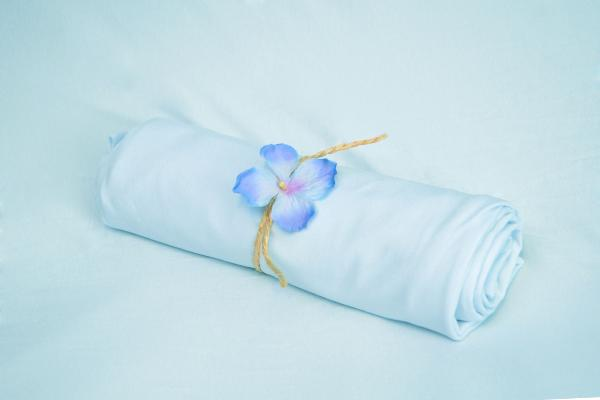 Baby blue smooth fabric