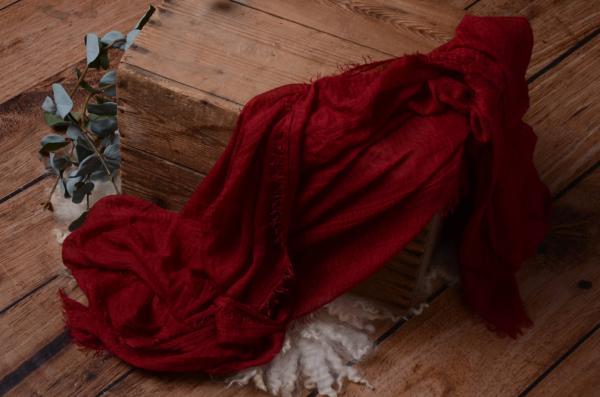 Wrap en coton rouge vin