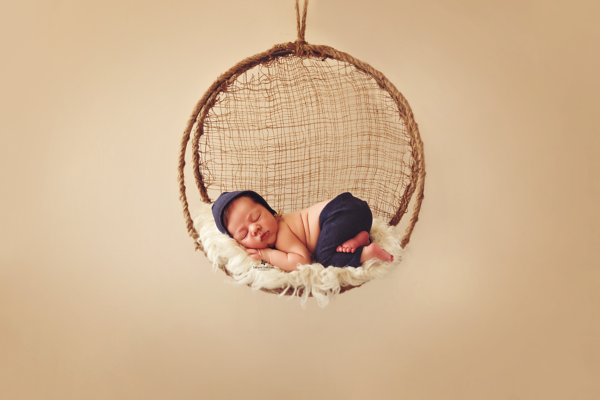Round rustic swing