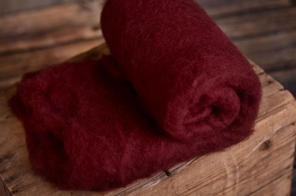 Coperta lana bordeaux