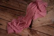 Wrap mousseline rose foncé