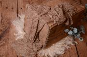 Wrap aus Zellwolle in Nerz