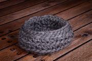 Korb aus Wolle - grau