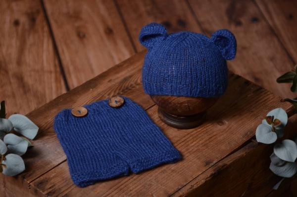 Cobalt blue mohair set with ears