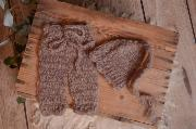 Mink mohair pants and long-hat set
