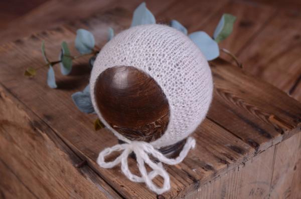 Glatte Angoramütze - weiß