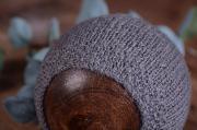 Berretto angora liscio grigio