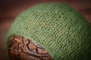 Mütze aus Angorawolle in Grün