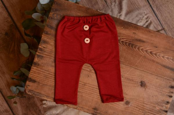 Red wine stitch trousers