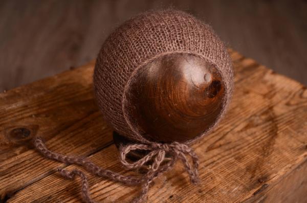 Mütze aus Angorawolle in Nerz