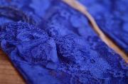 Blue lace pants and headband set