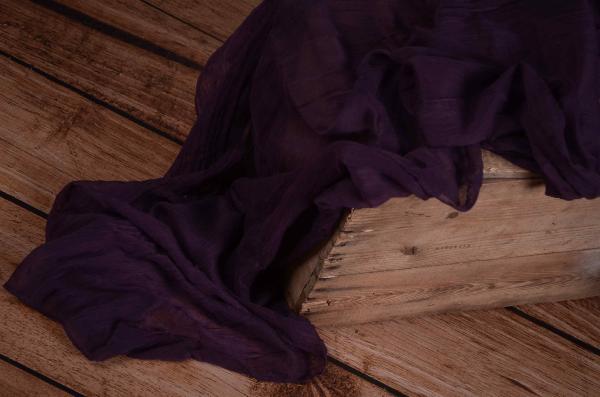 Wrap aus Musselin in Violett