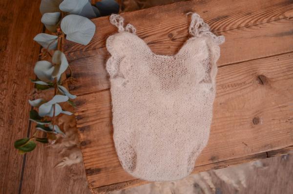 Bodysuit aus Angora - weiß