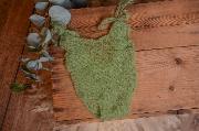 Justaucorps en mohair vert