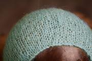Blue mohair hat