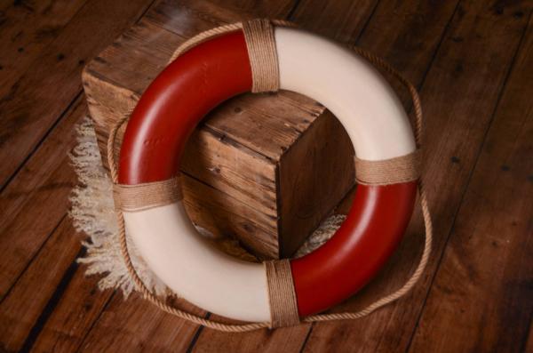 Bouée de sauvetage vintage rouge 50 cm