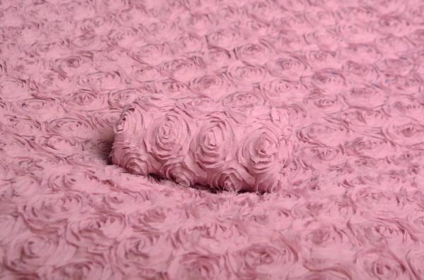 Tela de flores rosa palo