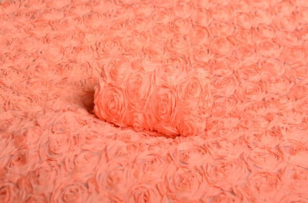 Salmon flower fabric