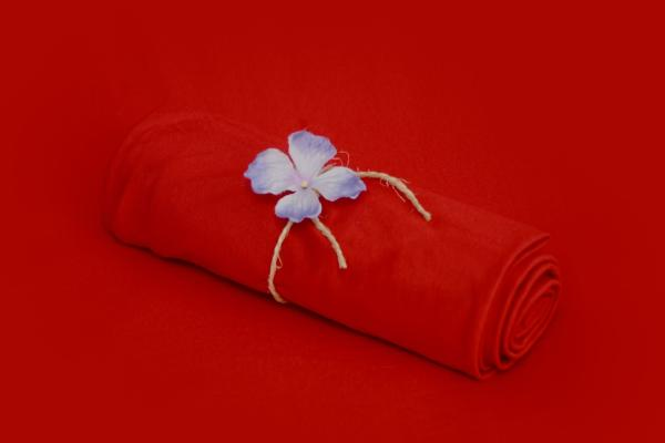 Red smooth fabric