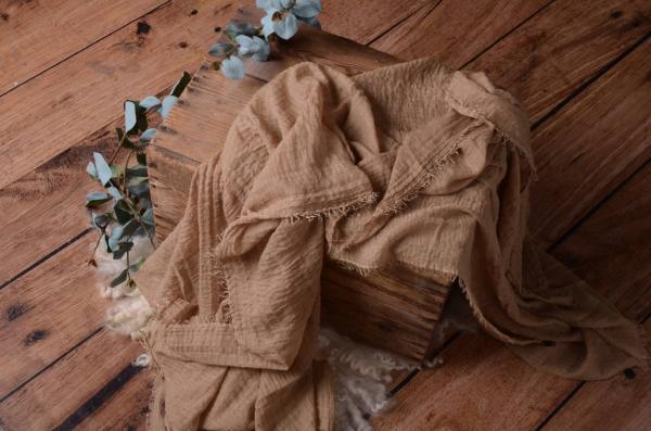 Wrap aus Baumwolle in Sandfarbe