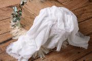 Wrap en coton blanc