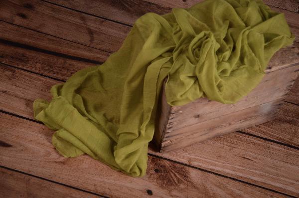Wrap mousseline vert pistachier