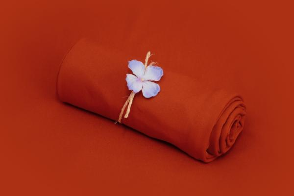 Russet smooth fabric