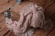 Wrap en coton vieux rose