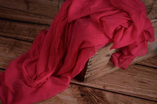 Wrap aus Musselin in Fuchsiapink