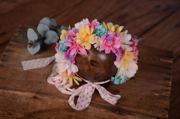 Capuche floral multicolore