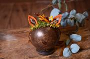 Orange and yellow fantasy headdress with little ears