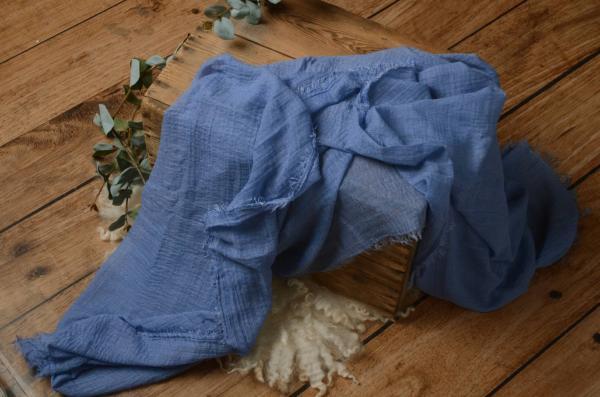 Wrap en coton bleu clair