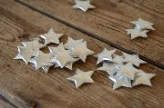 Decorative silver stars 3 cm