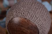 Mink smooth mohair hat