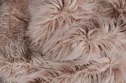 Manta de pelo extralargo liso hueso
