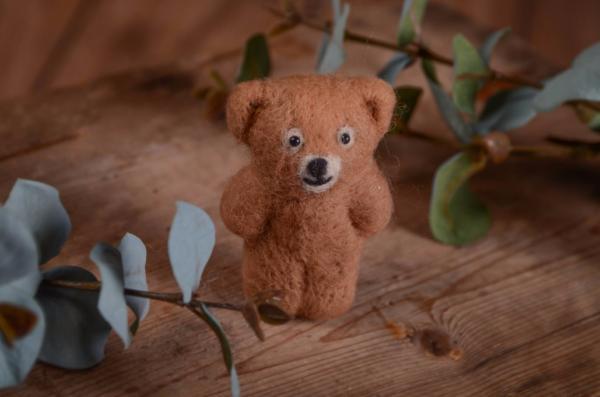Light brown little bear toy 9 cm