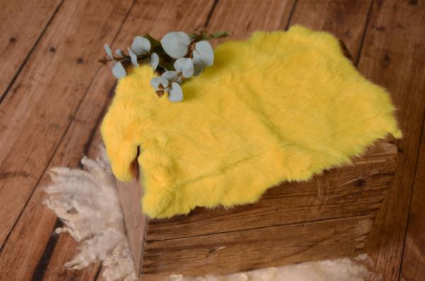 Yellow fur fabric