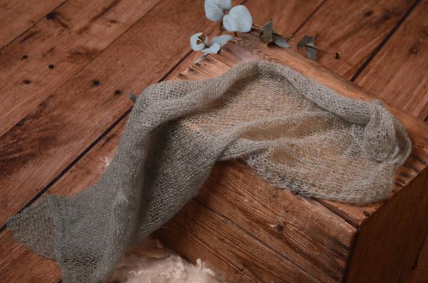 Wrap en mohair gris
