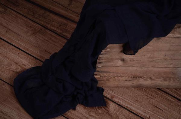 Wrap di mussolina blu marino