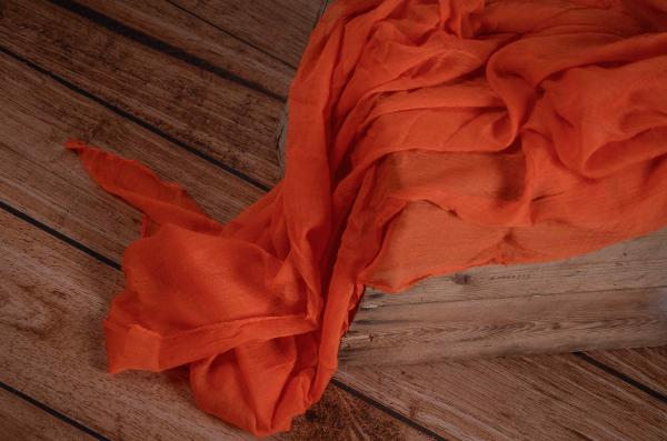 Wrap mousseline orange