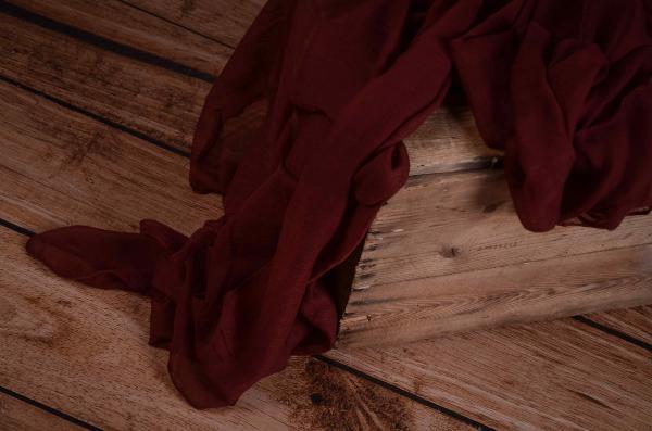 Wine red muslin wrap