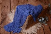 Wrap aus Zellwolle in Blau
