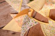 Yellow decorative pennant