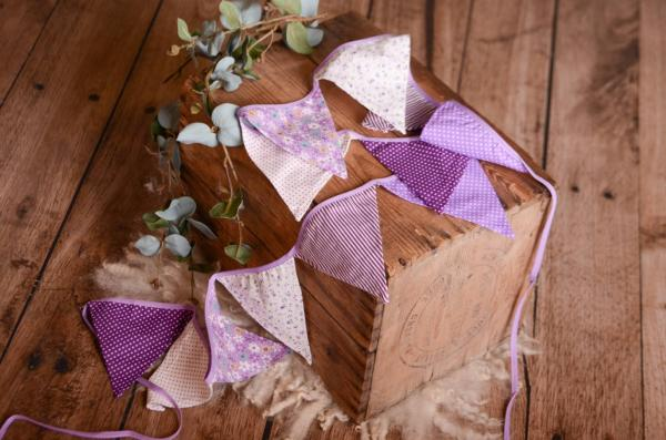 Purple decorative pennant