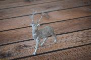 Silver decorative deer 25 cm