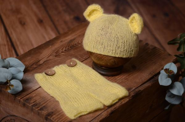 Yellow mohair set with ears