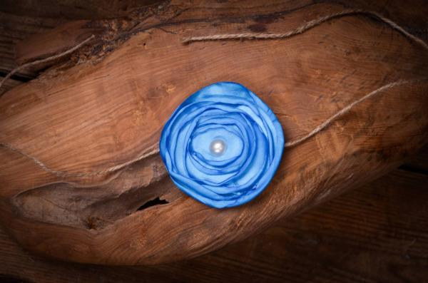 Serre-tête fleur bleu