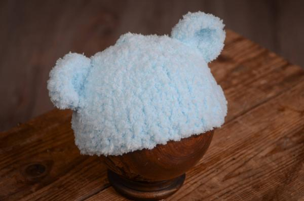 Sky blue hat with lamb ears