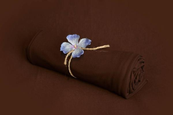 Brown smooth fabric